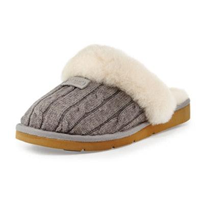 Cozy Knit Shearling Slipper