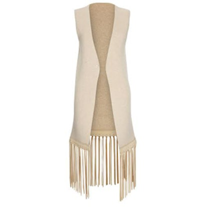 Luxe Vest with Leather Fringe