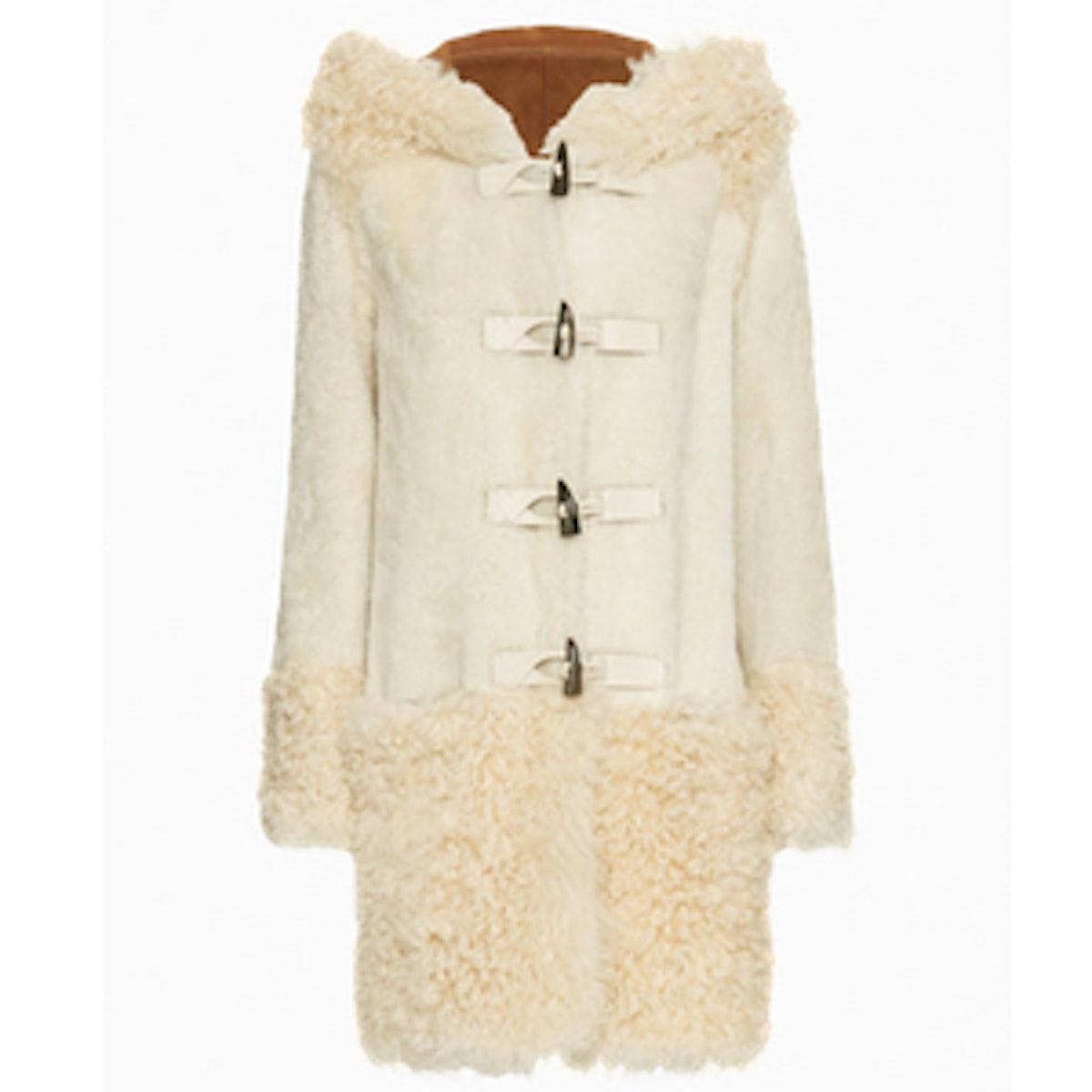 Shearling Toggle Coat