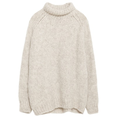 Sweater with Roll-Neck Collar