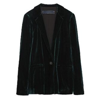 Green Velvet Studio Jacket