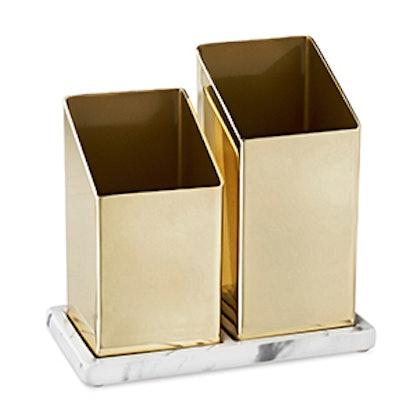 Angled Brass Organizer