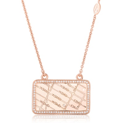 Rose Gold Map Necklace
