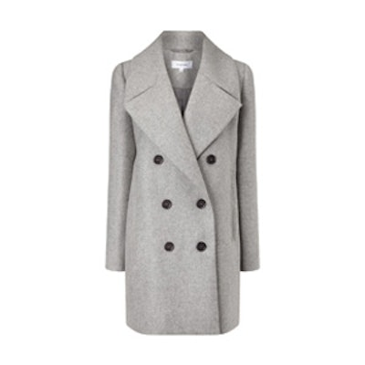 Grey Wool Double Breasted Coat