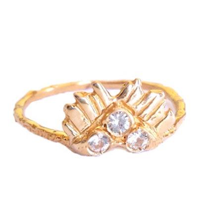 Rose Gold Three Spirits Guardian Light Ring