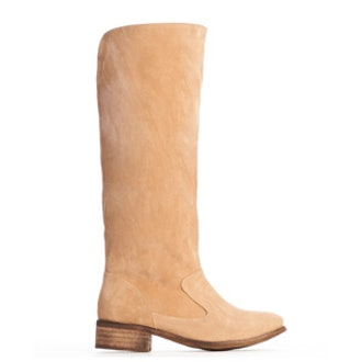Beige Pull On Tall Boot