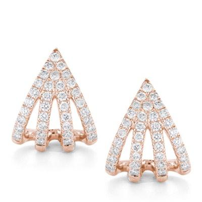 Rose Gold Sarah Leah Diamond Huggies