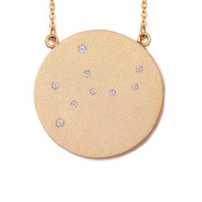 Rose Gold Virgo Constellation Necklace