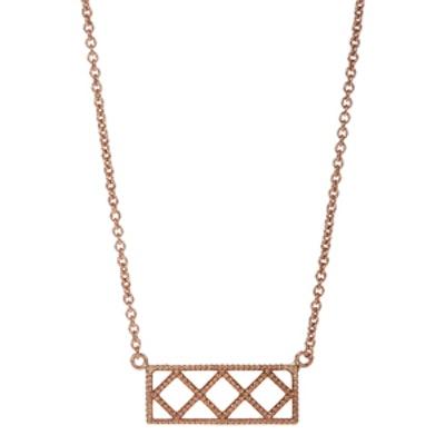 Rose Gold Petite Deco IX Pendant Necklace