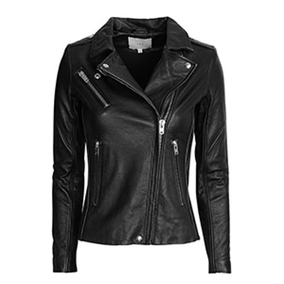 Tamie Belted Leather Jacket