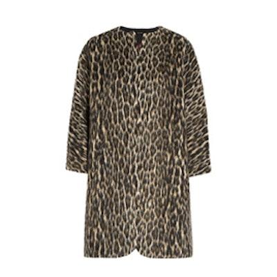 Emmett Brushed Leopard Print Coat