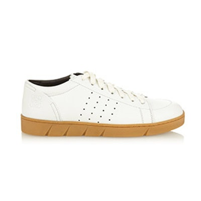 Low‐Top Leather Trainers