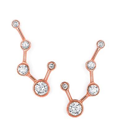 Rose Gold Big Dipper Diamond Constellation Earrings