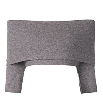 Off-Shoulder Cropped Knit Top