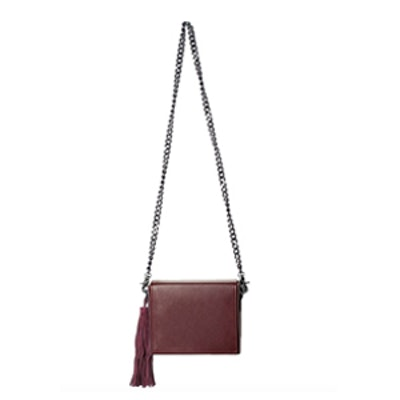 Burgundy Boxy Cross Body Bag