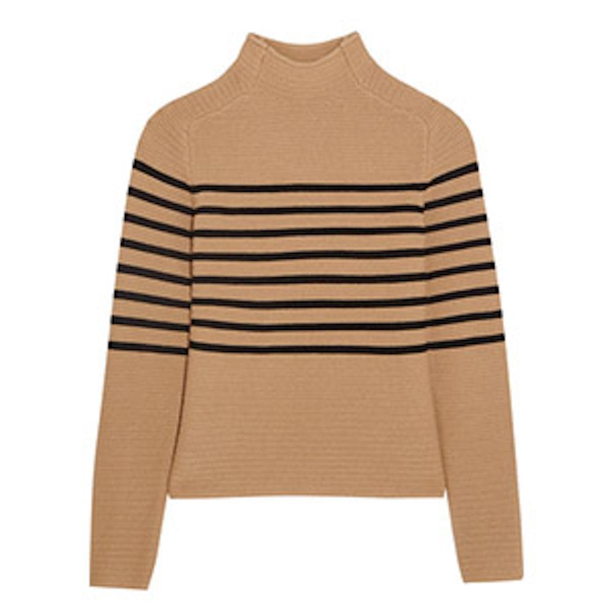 Broadwick Striped Wool & Cashmere Sweater