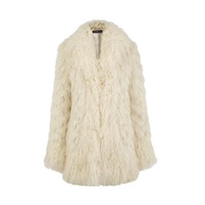 Faux Fur Mix Afghan Coat