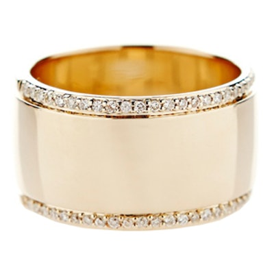 Pave Diamond & Yellow Gold Ring
