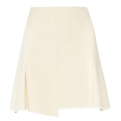 Pleated Textured Mini Skirt
