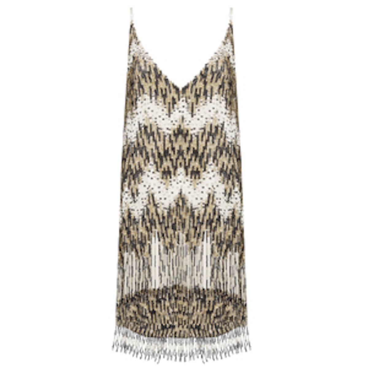 Lyle Embellished V-Neck Short Slip Dress