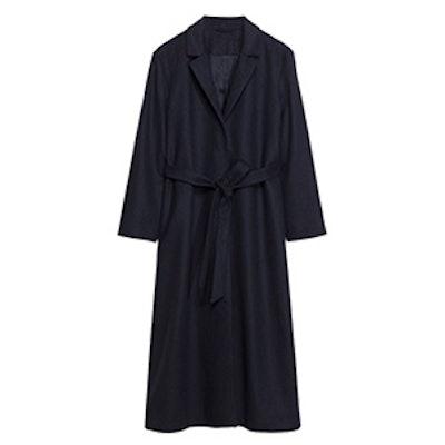 Long Waisted Wool Coat