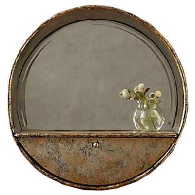 Industrialist Mirror Shelf