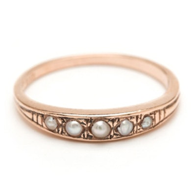 Pearl & Rose Gold Ring