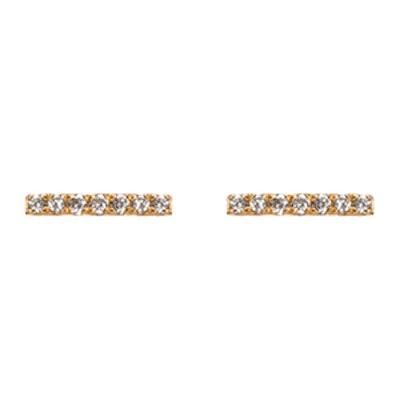 Midi Diamond Bar Earring with White Diamonds