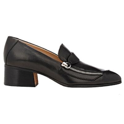 Zipper-Embellished Loafers