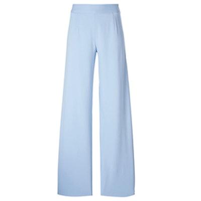 Wide Leg Crepe Trousers