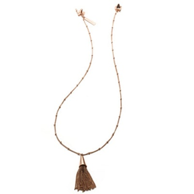 Rose Gold-Plated Tassel Necklace