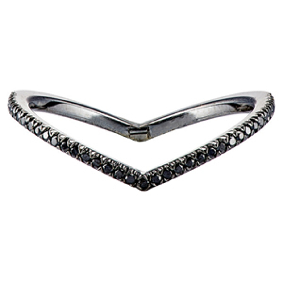 Black Diamond & Gold Ring