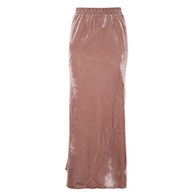 Velvet Fishtail Skirt
