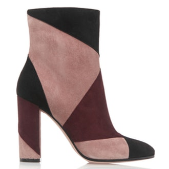 Patchwork Suede Ankle Boots
