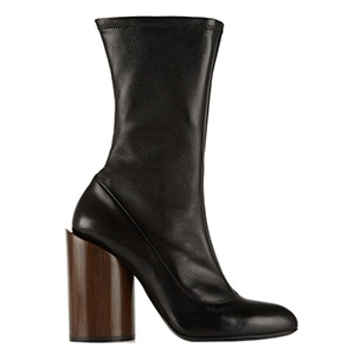 Stretch-Leather Boots