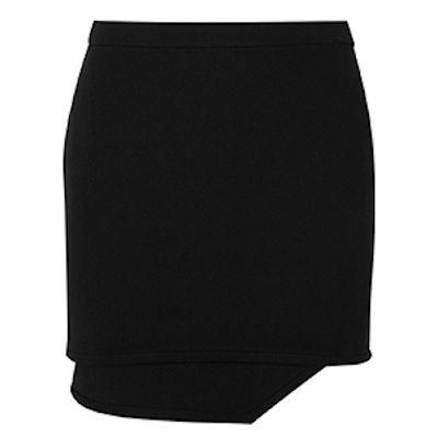 Ponia Asymmetric Jersey Mini Skirt