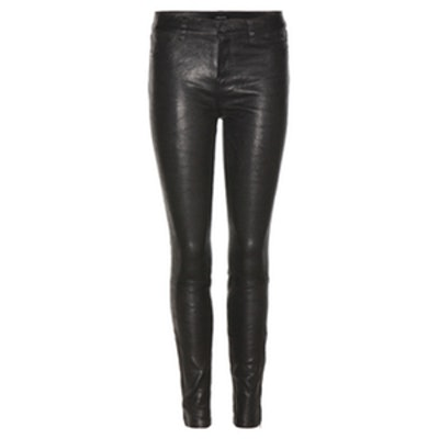 Super Skinny Stretch Leather Trousers