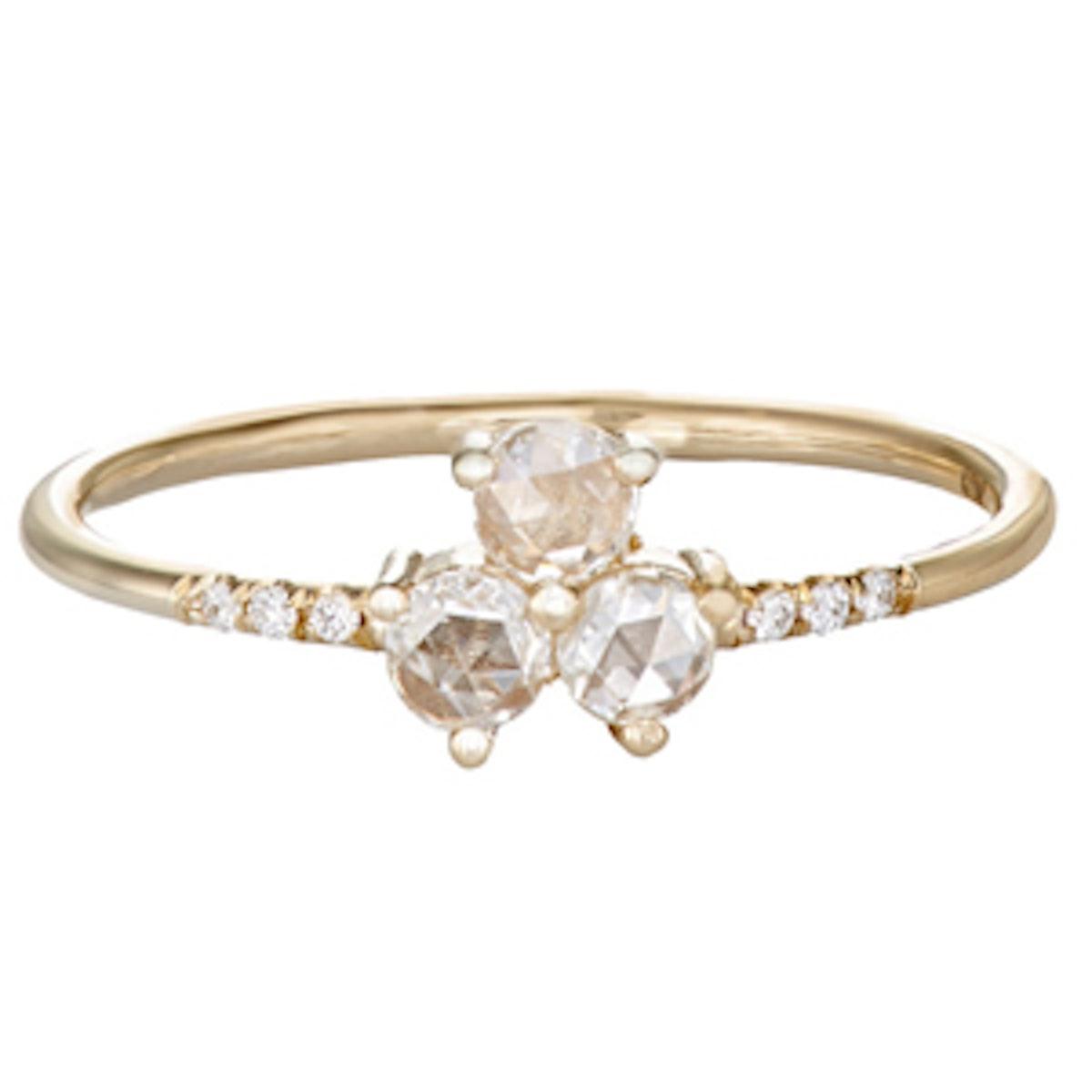 Triad Diamond Equilibrium Ring