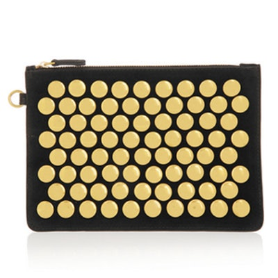 Popoche Studded Suede Pouch