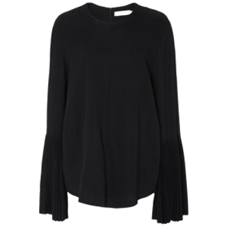 Viscose Pleated Bell Sleeve Top