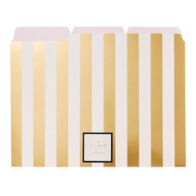 Gold Stripe File Folders
