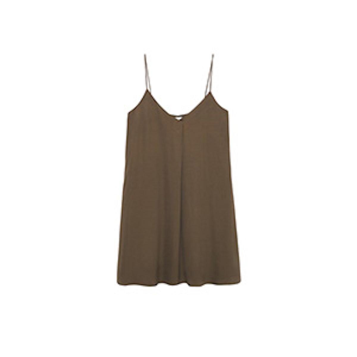 Khaki Slip Dress