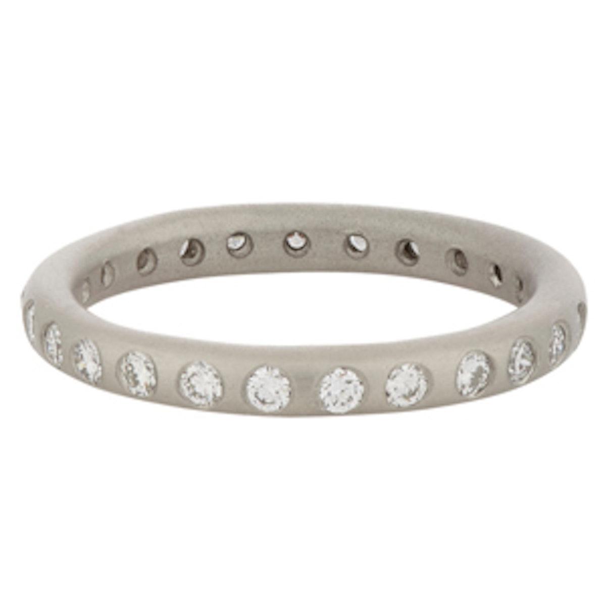 Diamond & Platinum Jane Ring