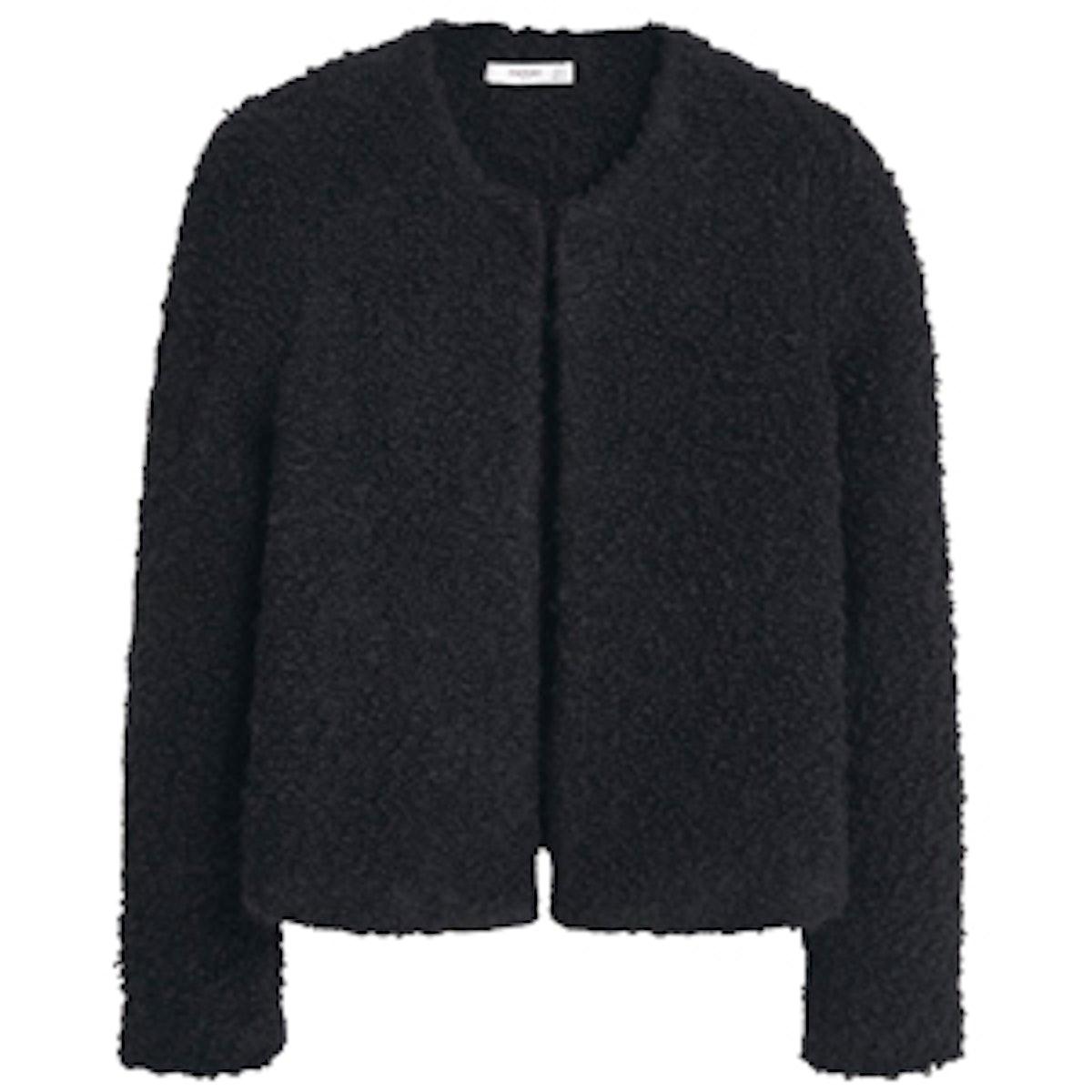Textured Alpaca-Blend Jacket