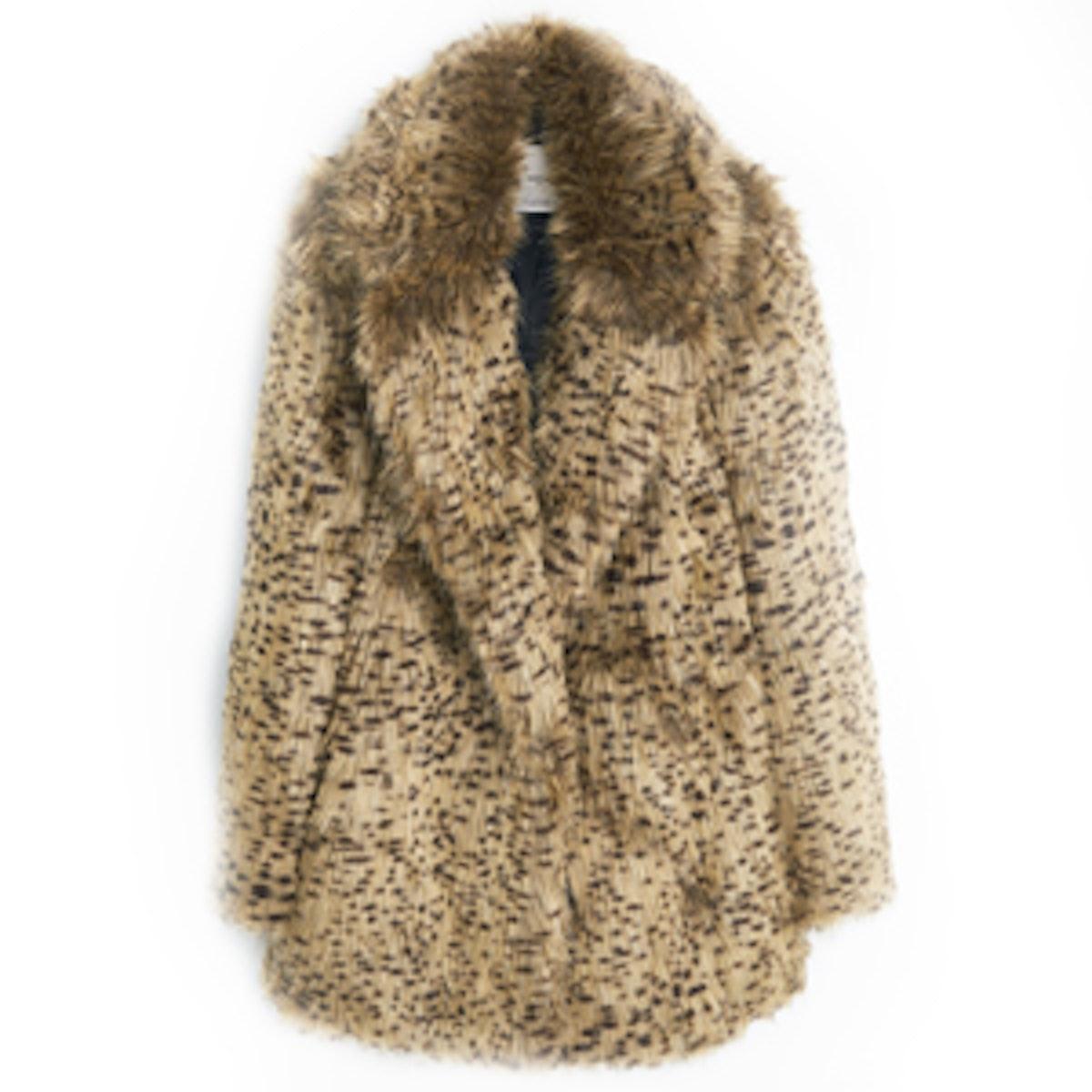 Leopard Faux Coat