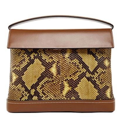 Python and Leather Shoulder Bag