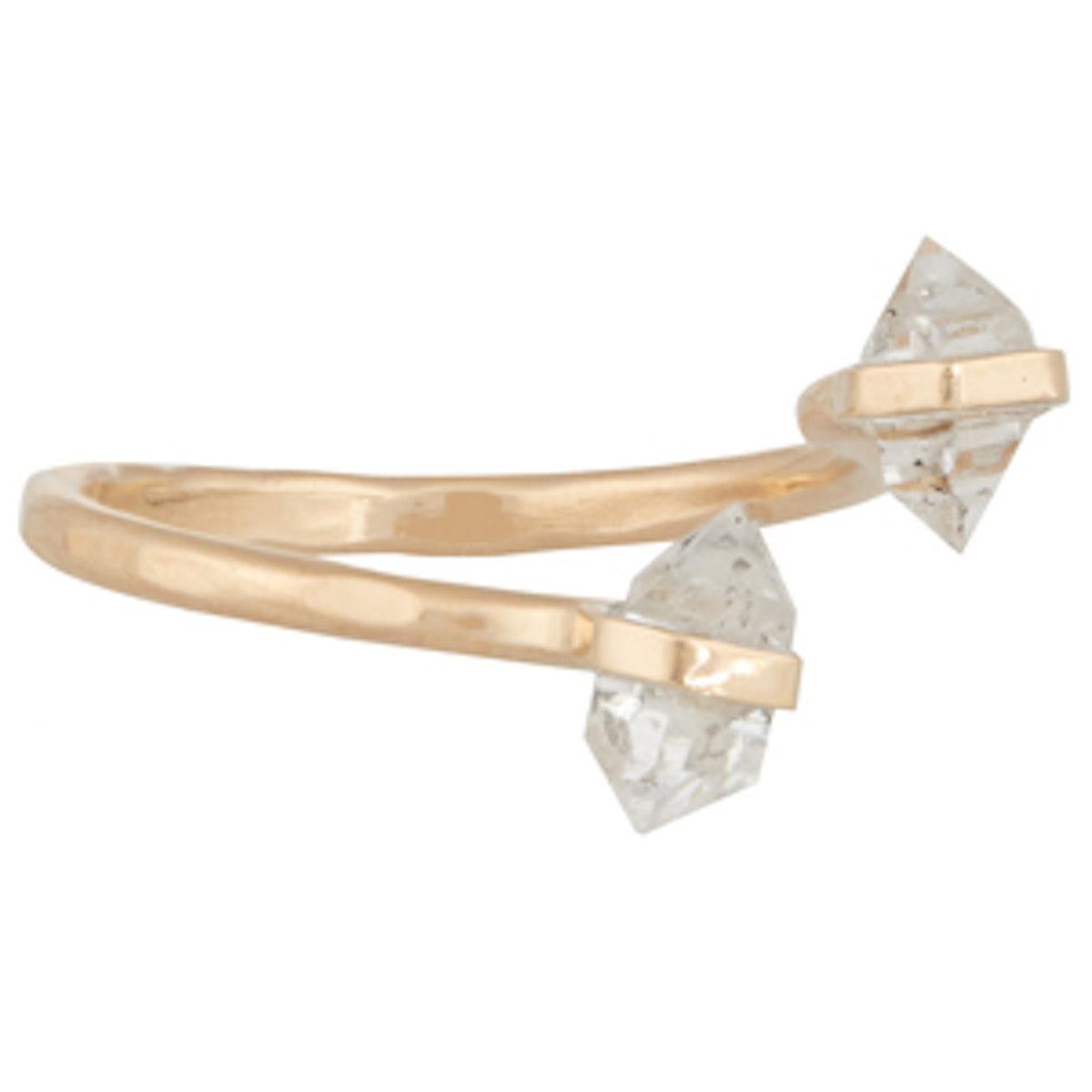 Gold & Raw Quartz Ring