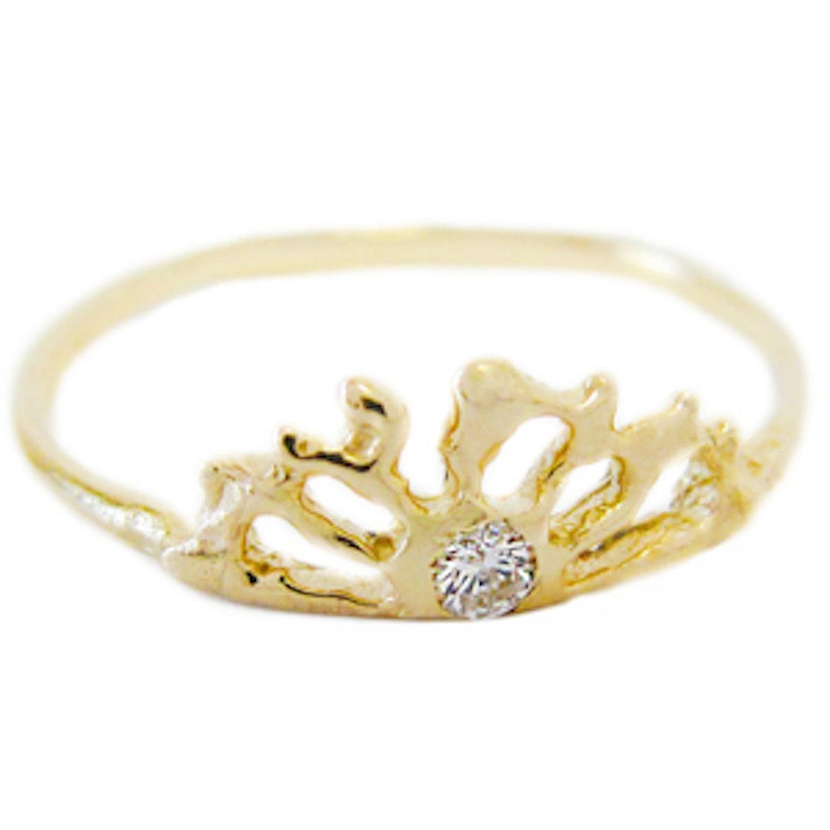 Sunrise Diamond & Yellow Gold Ring