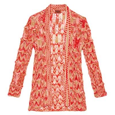 Open-Knit Wool Cardigan