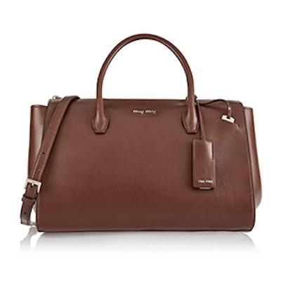 Trapeze Leather Shoulder Bag